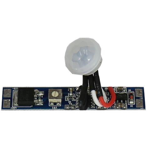 jandei Interruptor por movimiento para tira led y electrónica, 12/24V DC 96W, en PCB pequeño para montajes