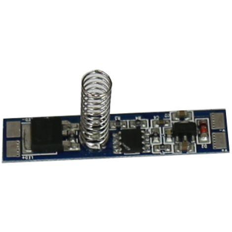 jandei Interruptor táctil para tira led y electrónica, 12/24V DC 96W, en PCB pequeño para montajes