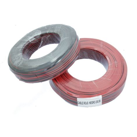jandei JND-SRN Cable paralelo rojo negro de 2x0,5mm² para tiras led y electrónica