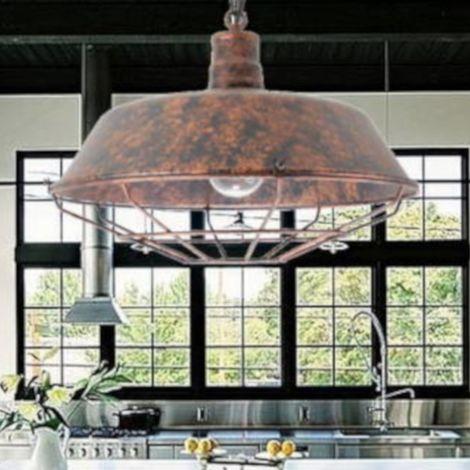 jandei Lámpara estilo industrial acabado cobre viejo E27