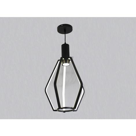 jandei Lámpara LED colgante moderna negra 25W + GU10