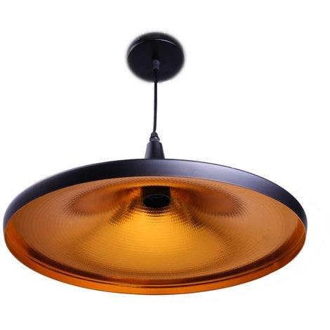 jandei Lampara techo NonLa conica 35cm colgante negro y dorado