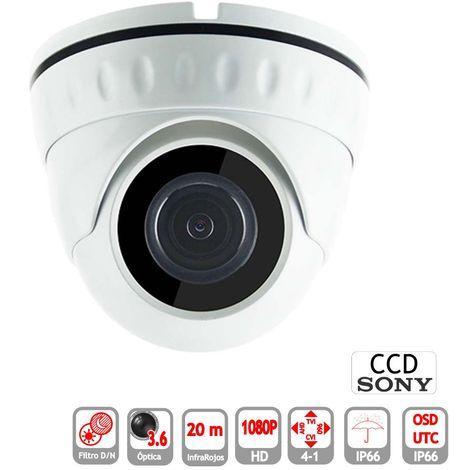 jandei Minidomo 4 en 1 1080P Exterior 3.6mm Infrarrojos OSD-UTC Blanco