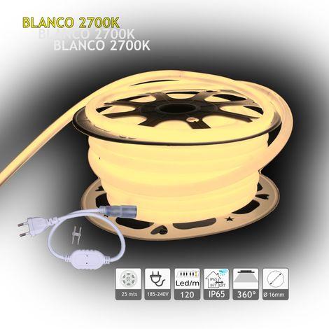 jandei Neón LED circular 360 flexible 2700K 220V 120 led metro 25m