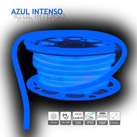jandei Neón LED circular 360 flexible AZUL 220V 120 led metro 25m
