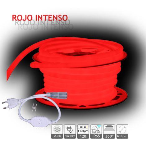 jandei Neón LED circular 360 flexible ROJO 220V 120 led metro 25m