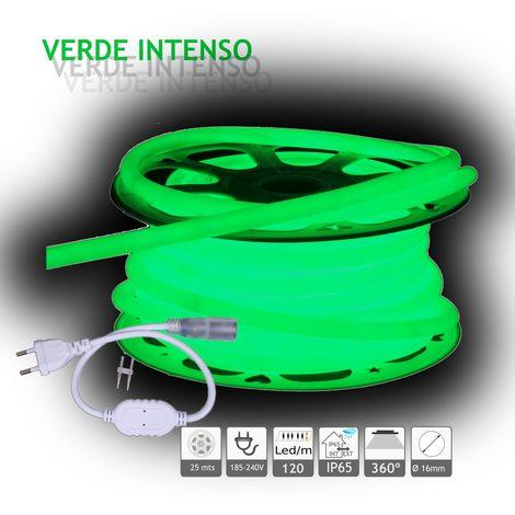 jandei Neón LED circular 360 flexible VERDE 220V 120 led metro 25m
