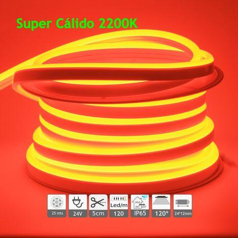 jandei Neón led flexible simple 24V 2200K 12mm 120 led metro 9W 25m
