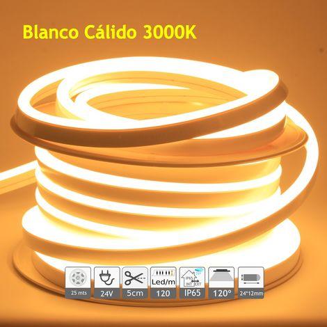 jandei Neón led flexible simple 24V 3000K 12mm 120 led metro 9W 25m