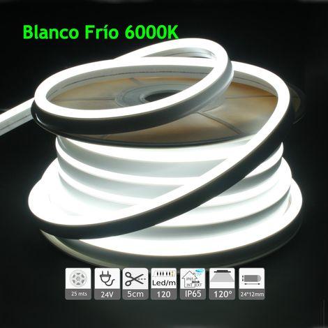jandei Neón led flexible simple 24V 6000K 12mm 120 led metro 9W 25m