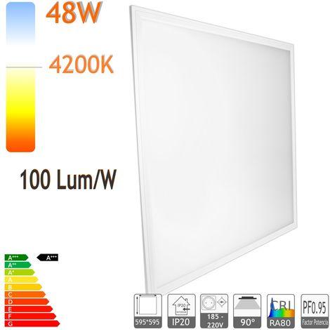 jandei Panel led 60 x 60 cm 48W Bl. 4000ºK marco blanco