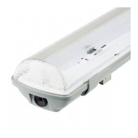jandei Pantalla estanca 120cm para montar 2 tubo LED T8 conector G13 techo, pared, garaje, oficina, taller, cocina