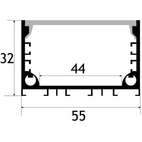 jandei Perfil aluminio led lampara colgante, 2 metros