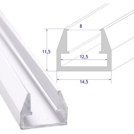 jandei perfil aluminio tira led estante cristal 8 mm barra 2 metros