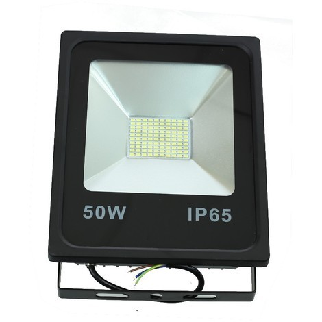 jandei Proyector LED slim 50W Exterior IP65 SMD5730 carcasa negra