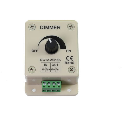 jandei Regulador dimmer tira led monocolor 1 canal 12V-24V 8A