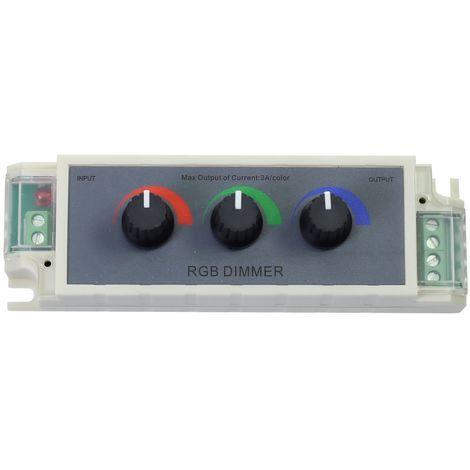 jandei Regulador dimmer tira led RGB 3 canales 12V-24VDC 9A