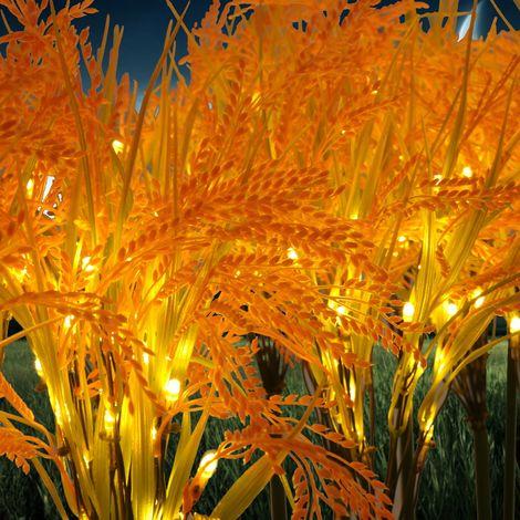 jandei Set Lampara Planta Arroz Decorativa 20 Tallos Luz Amarilla 3000K