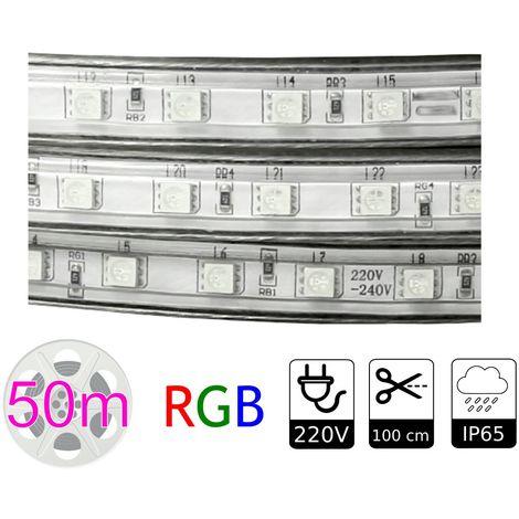 jandei Tira de led 220V RGB exterior 10w metro bobina 50 metros