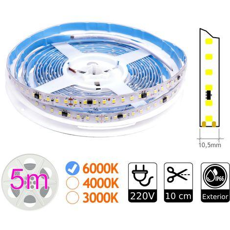 jandei Tira de LED Estecha 220V sin rectificador 14W/M 6000K Bobina 5m IP65