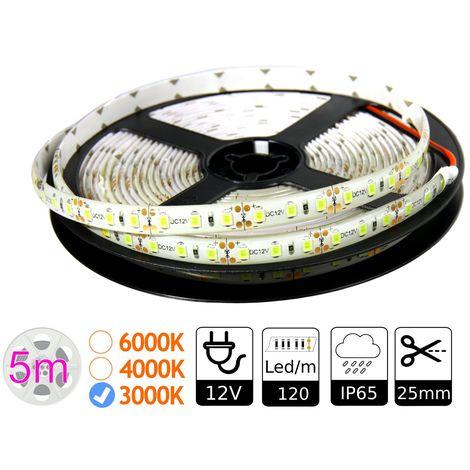 jandei Tira led 12V 3000ºK exterior IP65 120 leds metro SMD2835 Bobina 5 mts