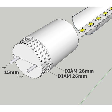 jandei Tubo led 18W 120 cm 4000K T8 220V cristal PF0.95 Caja 30ud
