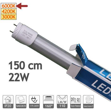 jandei Tubo led T8 22W (Equivale a tubo 58W) 1500mm, 2200 lúmenes blanco frío 6000K 220V-240V Conexión 1 lado G13