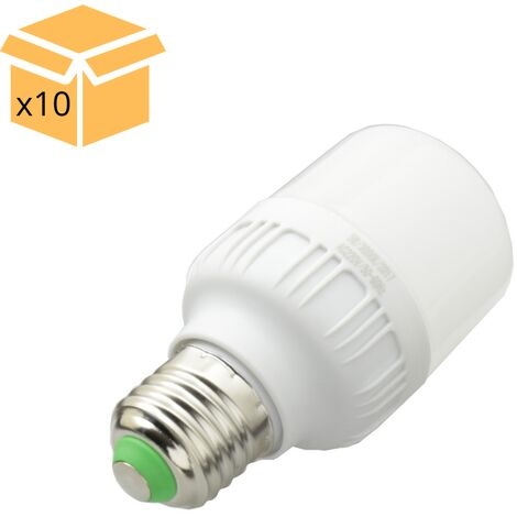Jandei x10 Bombilla LED 15W rosca E27 luz 6000ºK blanco frio