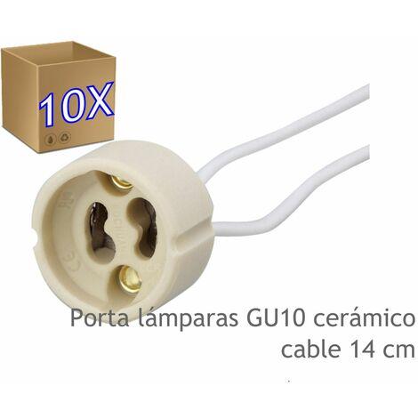 Jandei x10 Portalámparas cerámica GU10