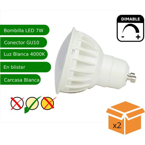 jandei x2 Bombilla led regulable GU10 7W blanco natural 4200K