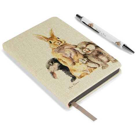 Jane Bannon Field And Fur Notebook Set (One Size) (Brown/White)