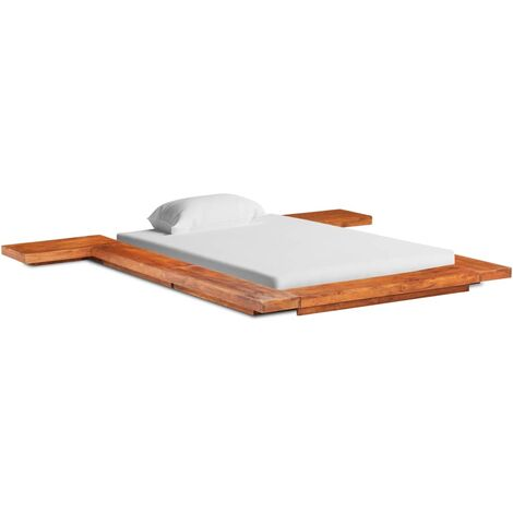 Japanese Futon Bed Frame Solid Acacia Wood 120x200 cm
