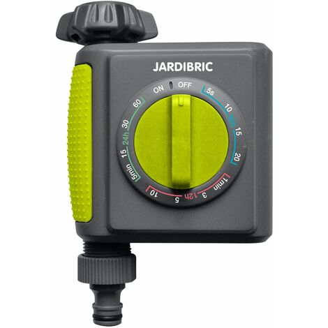 Jardibric - Programmateur/Temporisateur d'arrosage Nez de Robinet 1 Voie
