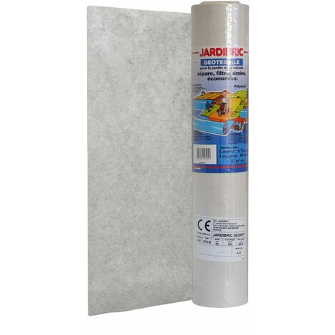 Jardibric - Rouleau géotextile 0,70 X 60m - en Maille Polyester