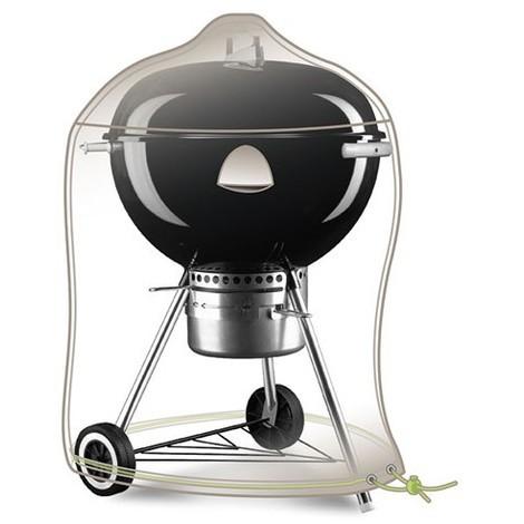 JARDILINE - Housse barbecue rond - D : 70 cm L : 80 cm - gris mastic