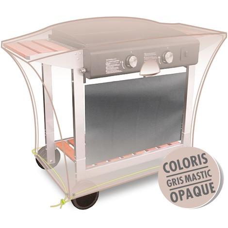 JARDILINE - Housse meuble plancha sur pieds - 110 x 60 x 60 cm - gris mastic