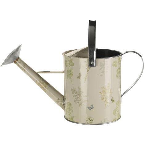 Jardin 5 litre watering can,galvanised steel/powder paint,green