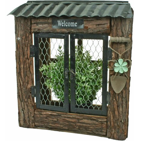 Jardin boîte à fleurs panneau de bienvenue grille porte jardin planteur bois