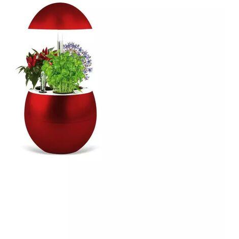 Jardin d'intérieur Vilma avec kit de démarrage et puce NFC - couleur rouge