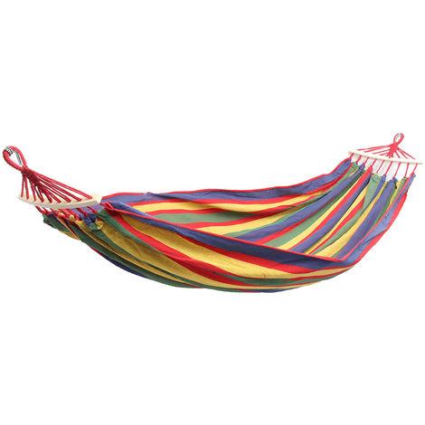 Jardín hamaca cama doble grande colgante columpio camping columpio terraza tumbona Sasicare