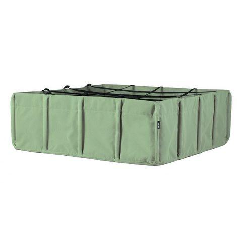 Jardin potager Bacsquare 570L BACSAC - Vert Olive - Intérieur