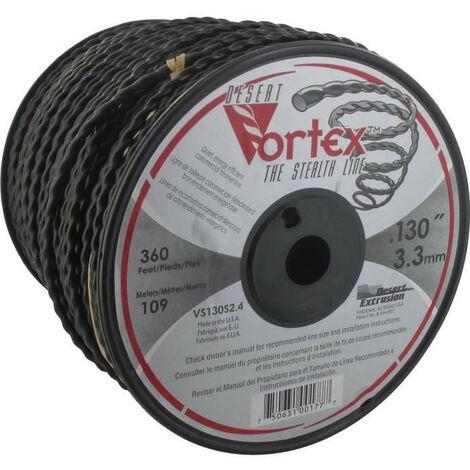 JARDIN PRATIQUE Bobine fil nylon copolymere VORTEX pour debroussailleuse - O 3,3 mm - L 109 m