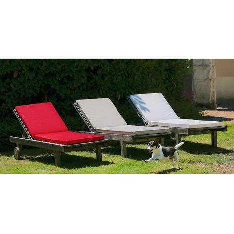 Jardin Prive Coussin Bain De Soleil Monte Carlo 185 X 55 X 6 Cm Rouge Carmin