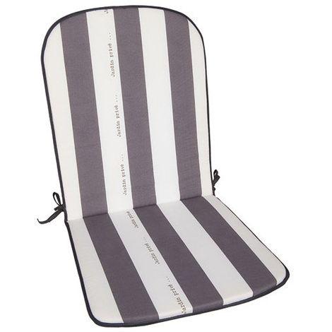"""main image of """"JARDIN PRIVE - Coussin pour fauteuil haut dossier Cancale - gris - lot de 2"""""""
