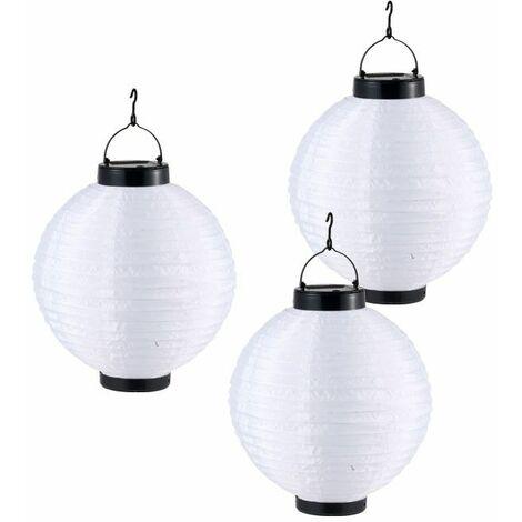 Jardín Solar LED lámpara de luz de la linterna que cuelga de la lámpara al aire libre Globo 33970 3'er Set