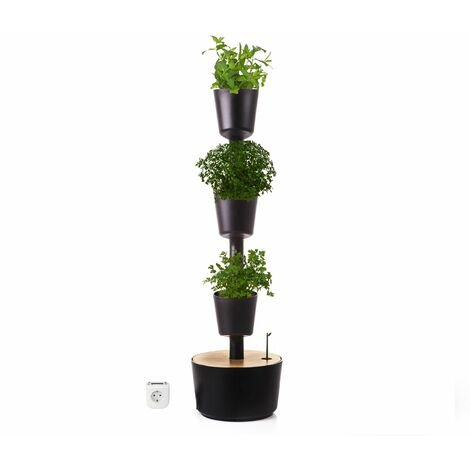 Jardín vertical Aromaticas Citysens color negro 2 macetas