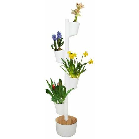 Jardín vertical Flores Perfumadas Citysens color blanco 4 macetas