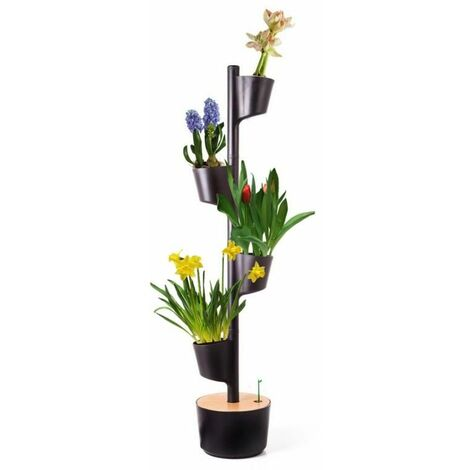 Jardín vertical Flores Perfumadas Citysens color negro 3 macetas