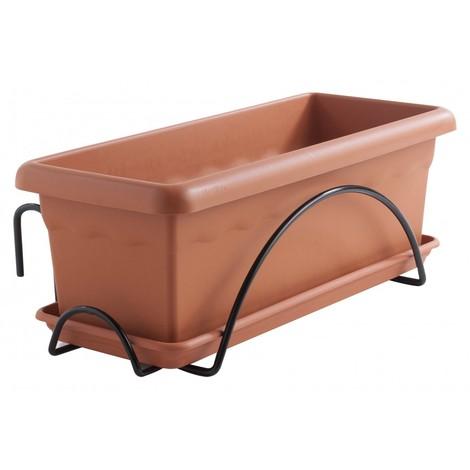 Jardinera Balcon 50 Cm C/sop Plastiken Pl Plato P26