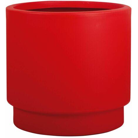 Jardinera Basic redonda rojo